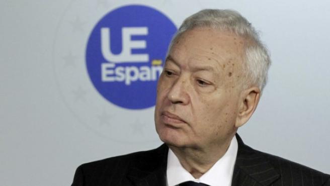 El ministro español de Exteriores, José Manuel García-Margallo, durante una rueda de prensa.