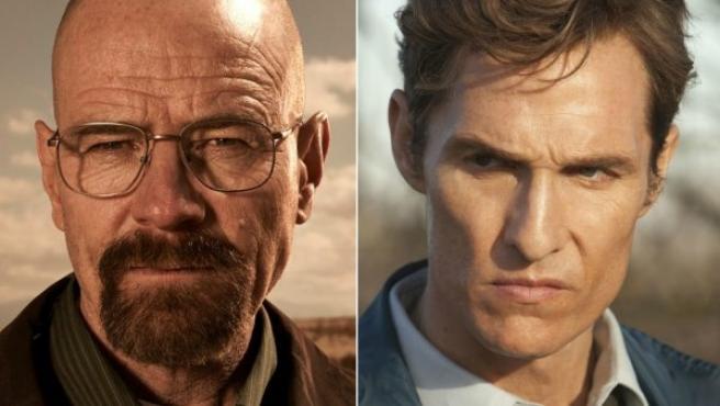Bryan Cranston y Matthew McConaughey, protagonistas de 'Breaking Bad' y 'True Detective'.
