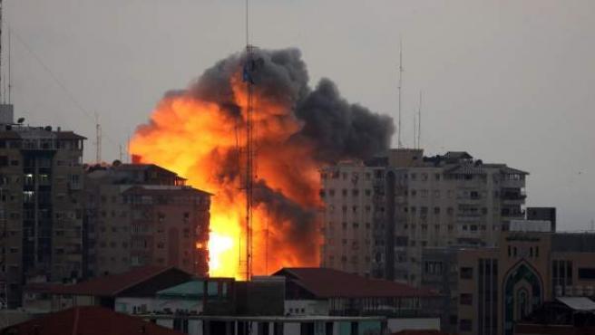 Efectos de un bombardeo israelí en Gaza.