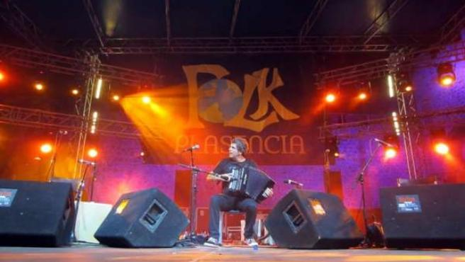 Kepa Junkera en el Festival Folk de Plasencia