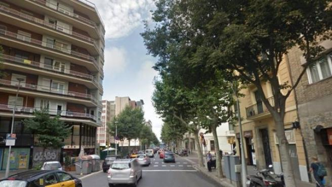 Imagen del Carrer de Córsega, Barcelona.