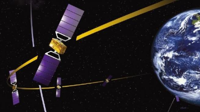 Sistema de navegación vía satélite Galileo.