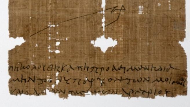 Papiro antiguo que hace referencia a la Eucaristía, conservado en Inglaterra.