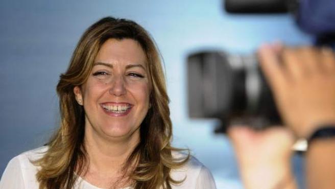 La presidenta de la Junta de Andalucía, Susana Díaz, en el Palacio de San Telmo