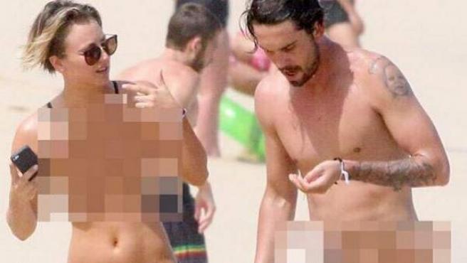 La popular actriz de 'The Big Bang Theory' y su marido, el tenista Ryan Sweeting, han decidido tomarse con humor esta filtración.