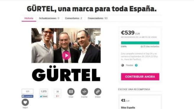 Captura de la web luissalom.com, creada por un proyecto de 'crowdfunding'.