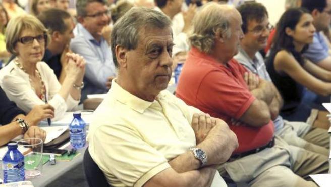 El eurodiputado de UPyD, Francisco Sosa Wagner (primer término-c), durante el Consejo Político extraordinario del partido.