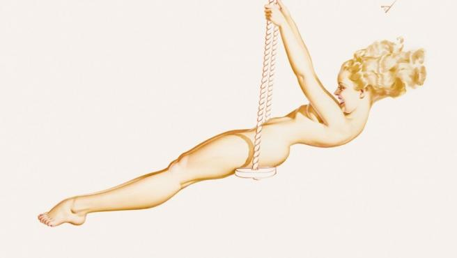 Chica 'pin up' de George Petty