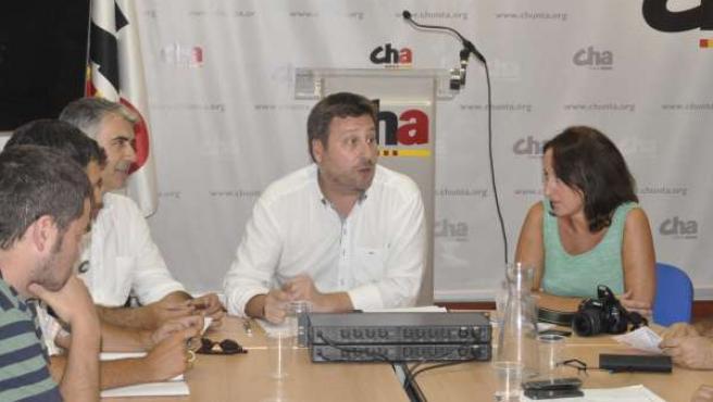 Imagen de la reunión del Consello Nazional de CHA.