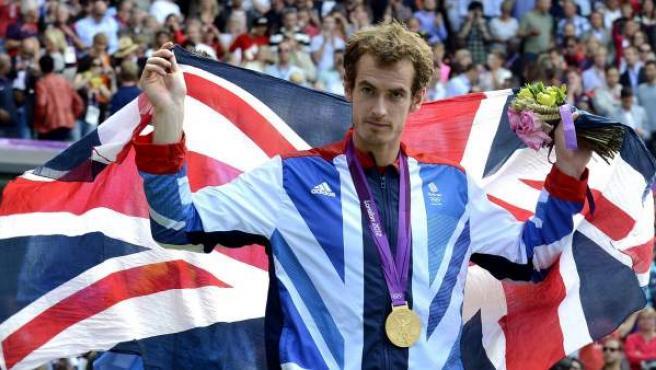 El escocés Andy Murray, campeón olímpico en Londres 2012.