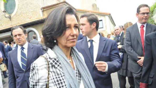 Ana Patricia Botín, en un foto de 2011, durante el funeral de Severiano Ballesteros.