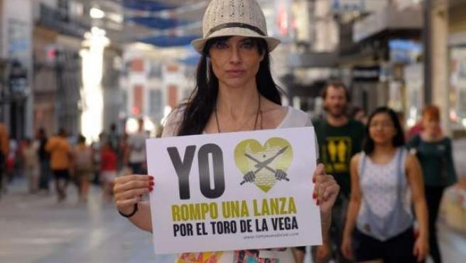 """La actriz Beatriz RIco, durante la campaña """"Rompe Una Lanza"""""""