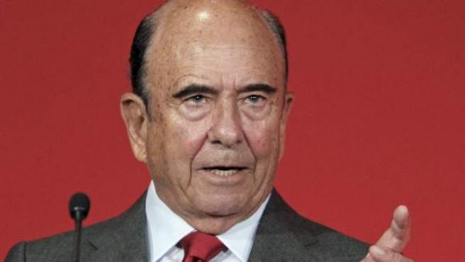 El presidente del Grupo Santander, Emilio Botín.