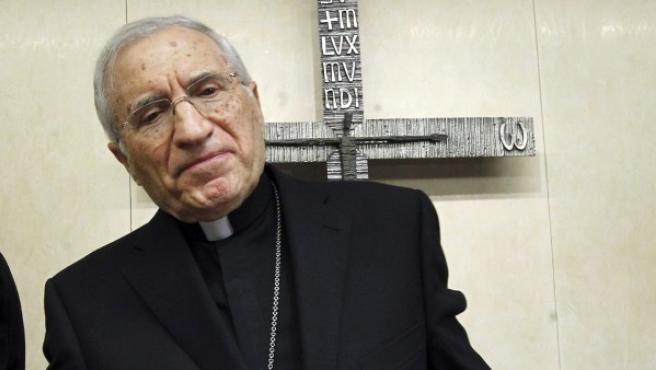 El cardenal arzobispo de Madrid, Antonio María Rouco, deja la presidencia de la Conferencia Episcopal.
