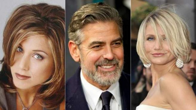 Jennifer Aniston, George Clooney y Cameron Diaz.