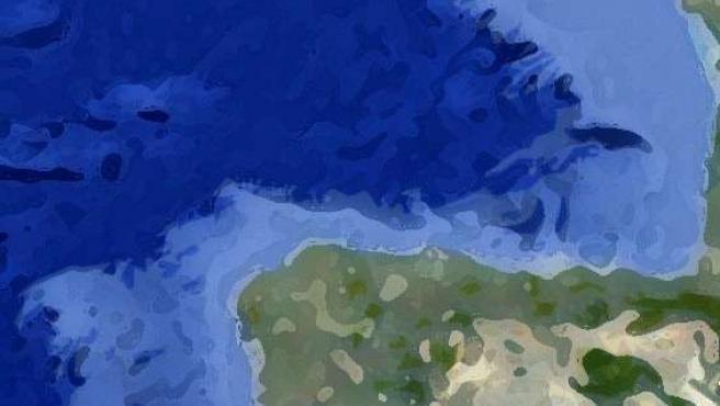 Mapa de la demarcación marina noratlántica