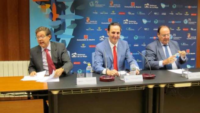 José Luis Fernández (izda), José Rolando Álvarez y Pablo Pombo.