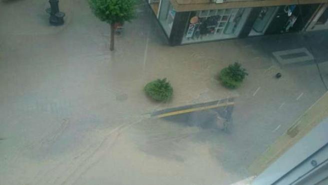 Lluvia caída en Utiel (Valencia)