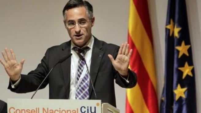 Ramon Tremosa, pronunciando un discurso.