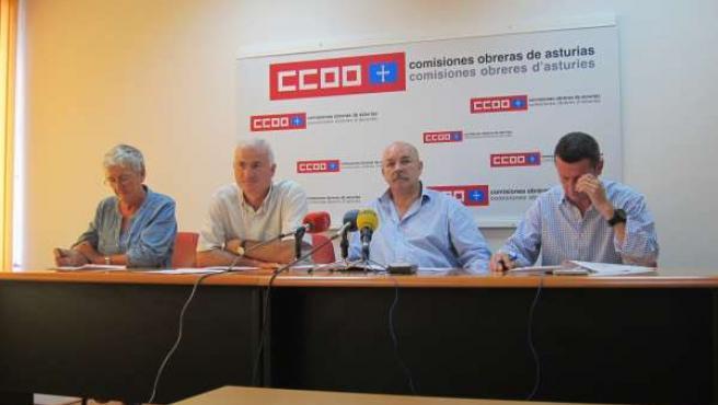 Rueda de prensa de CCOO Educación Asturias