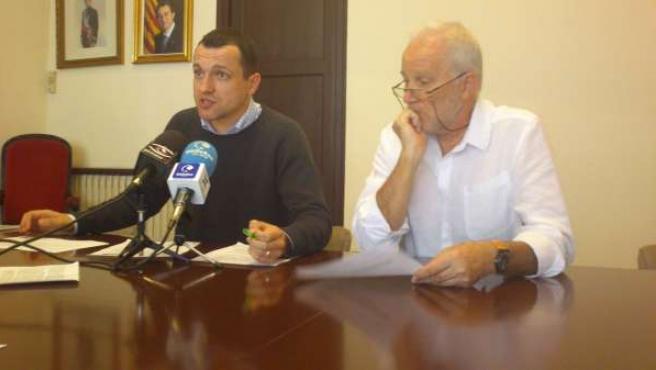 Los concejales socialistas de la Seu Óscar Ordeig y Vicens Ripoll