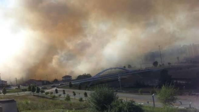 Incendio en la Vaguada de Las Llamas