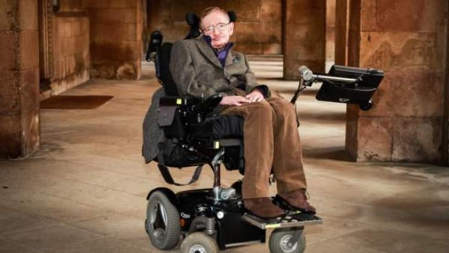 Stephen Hawking, en la ceremonia de apertura del Festival de Cine de Cambridge en septiembre de 2013.