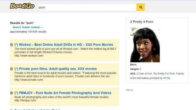 Captura de una búsqueda realizada en la web Boodigo.com