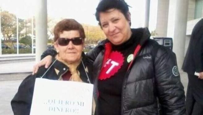 Laura de Los Santos, afectada por las preferentes, y activista contra las tasas judiciales.