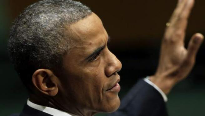 El presidente estadounidense, Barack Obama, interviene en la Asamblea General de las Naciones Unidas celebrada en Nueva York (Estados Unidos), miércoles 24 de septiembre de 2014.