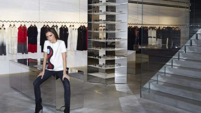 La primera tienda de Victoria Beckham en Londres.