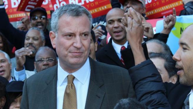 Bill de Blasio, candidato demócrata a la alcaldía de Nueva York.