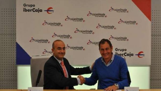Renovación del convenio entre Cajacirculo Grupo Ibercaja y Burgos Promesas 2000