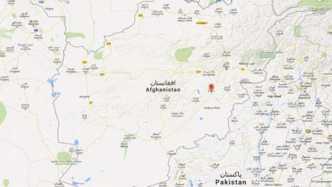 Ubicación de la provincia de Ghazni, en Afganistán.