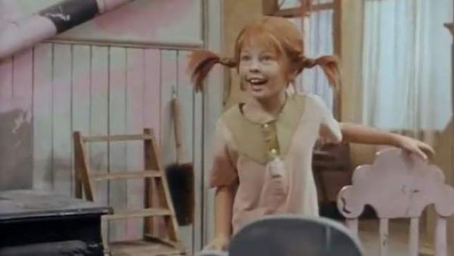 Imagen de la serie sueca sobre Pippi Långstrump, en España conocida como Pippi Calzaslargas.