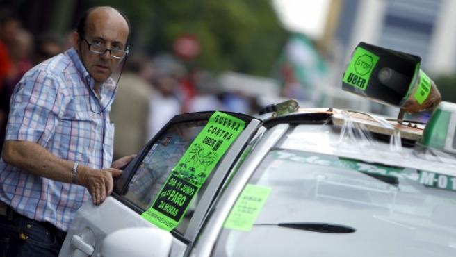 Los taxistas, contra Uber.