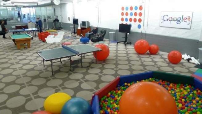 Zona de recreo de una de las oficinas de Google.