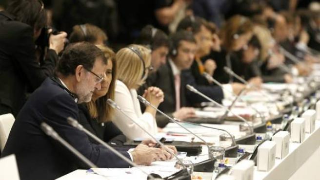 El presidente del Gobierno, Mariano Rajoy, en la cumbre sobre empleo en la Unión Europea.