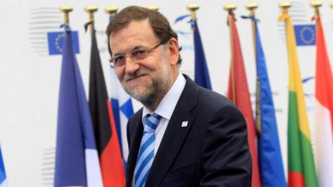 El presidente del Gobierno español, Mariano Rajoy, en la cumbre de empleo de Milán.