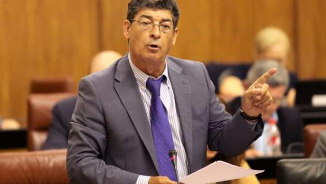 Diego Valderas, en el Parlamento