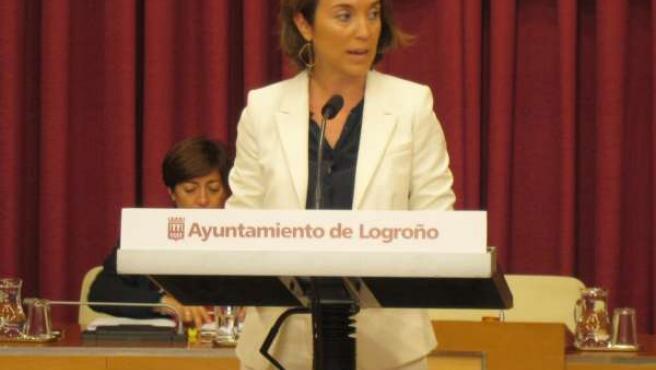 Cuca Gamarra, en su intervención en el Debate sobre el Estado de la Ciudad 2014
