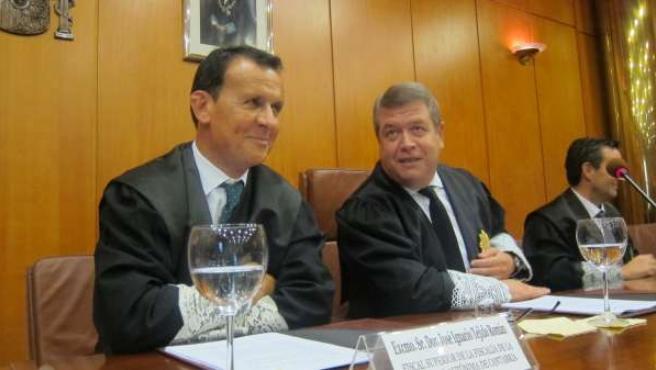 El fiscal superior y el presidente del TSJC en la apertura del Año Judicial