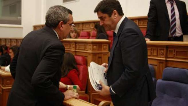 Echániz en las Cortes de Castilla-La Mancha