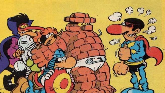 Algunos de los protagonistas del tebeo 'Superlópez'.