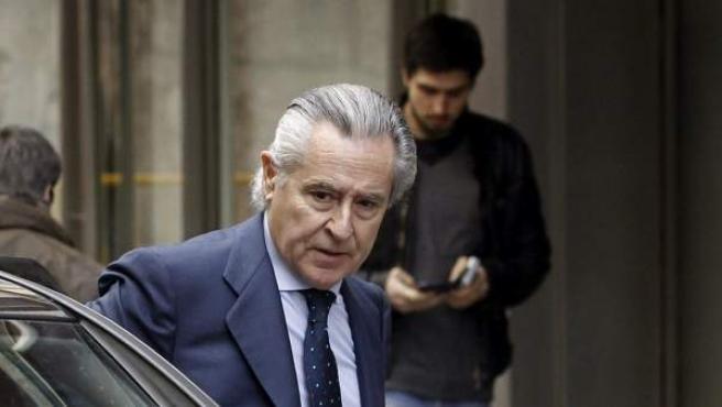 El expresidente de Caja Madrid Miguel Blesa, en la Audiencia Nacional.