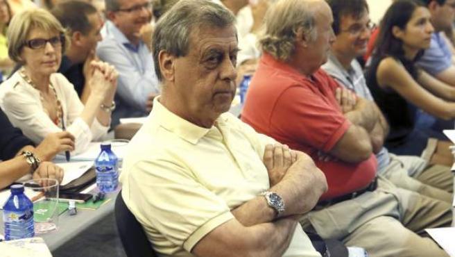 El eurodiputado Francisco Sosa Wagner, en la reunión de la ejecutiva de UPyD.