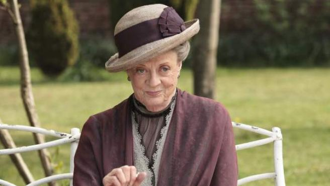 La actriz Maggie Smith, en la serie 'Downton Abbey.'.