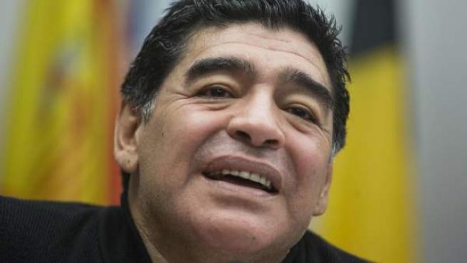 Diego Armando Maradona, en un acto público en Italia.