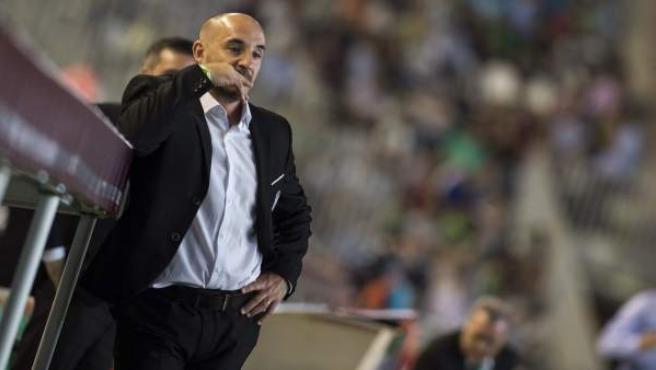 El Chapi Ferrer en su último partido con el Córdoba ante el Málaga.