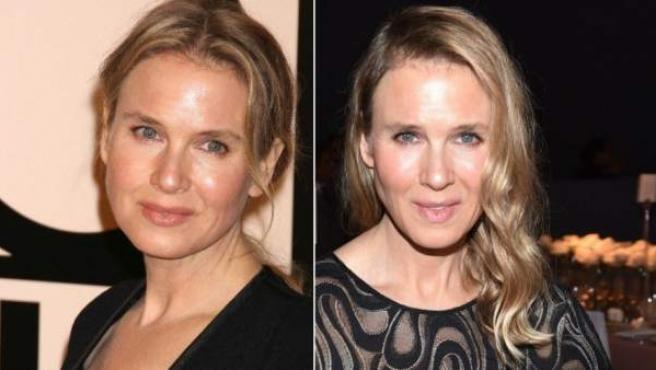 La actriz en una imagen de octubre de 2013 (izquierda) y del 20 de octubre de 2014 (derecha).